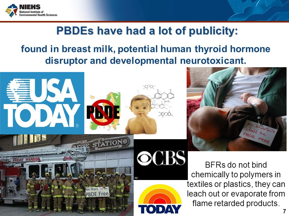 PBDEs have had a lot of publicity: