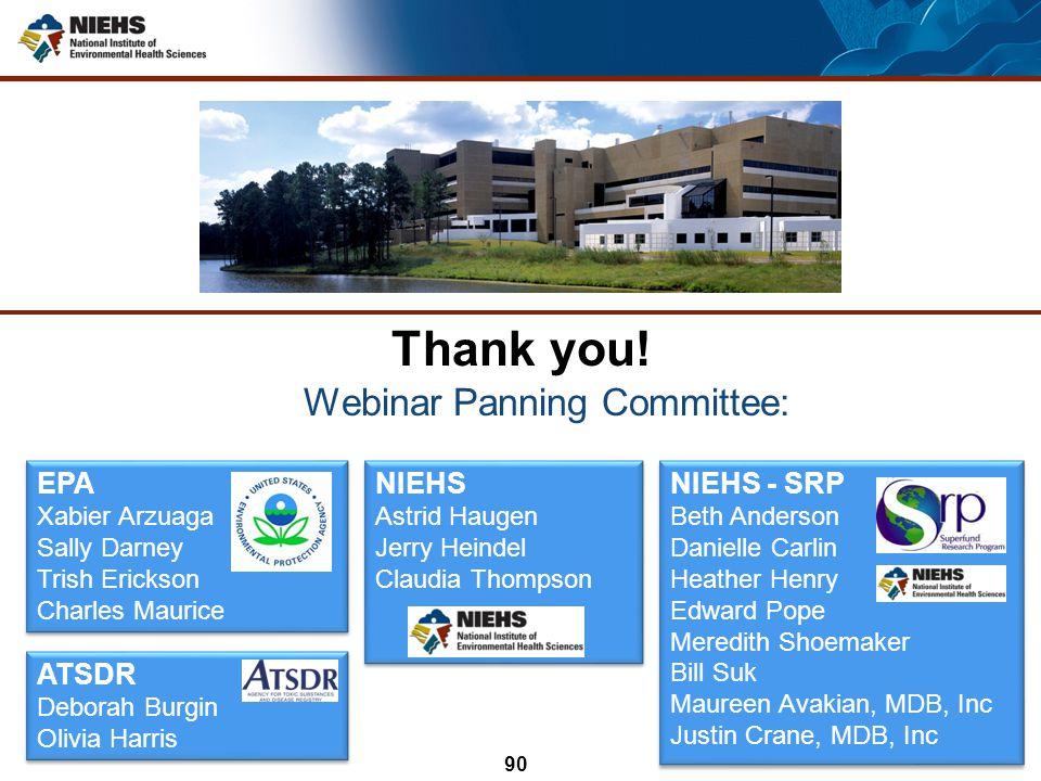 Webinar Panning Committee: