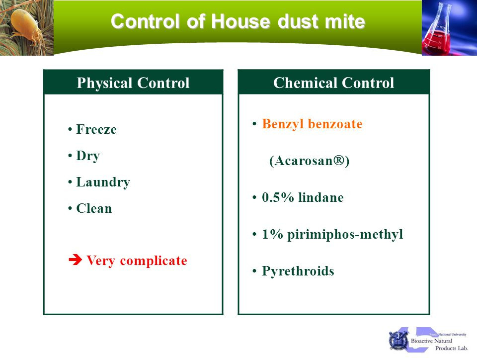 Control of House dust mite