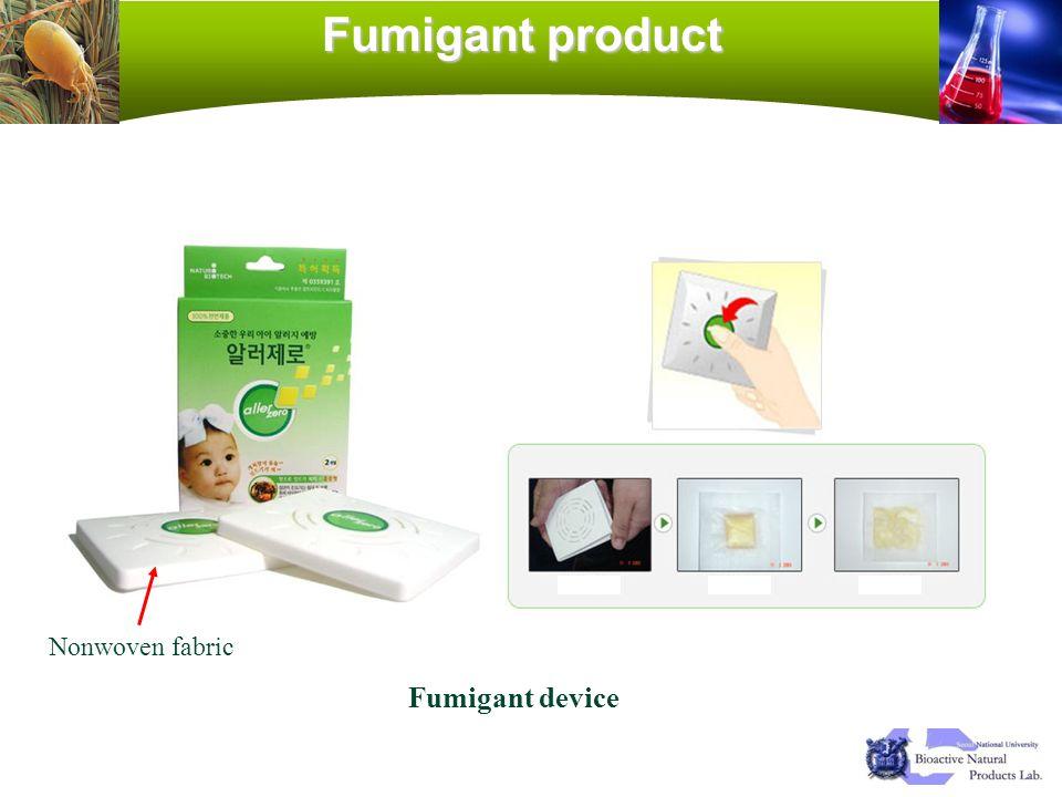 Fumigant product Nonwoven fabric Fumigant device