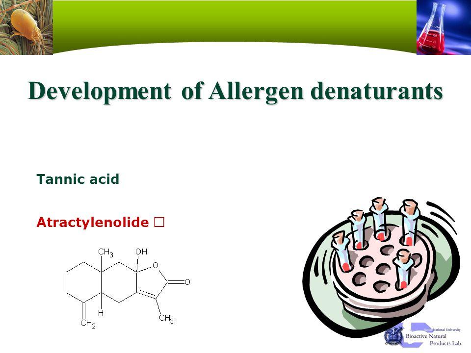 Development of Allergen denaturants