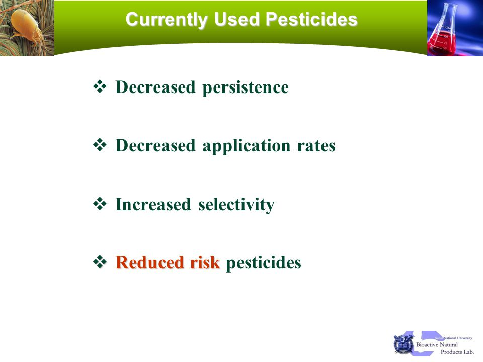 Currently Used Pesticides