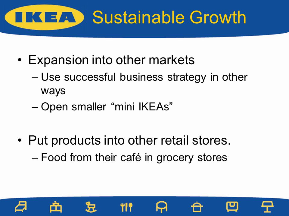 Sustainable Growth Expansion into other markets