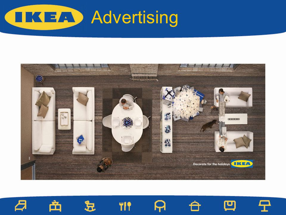 Advertising Holiday Ikea ad.