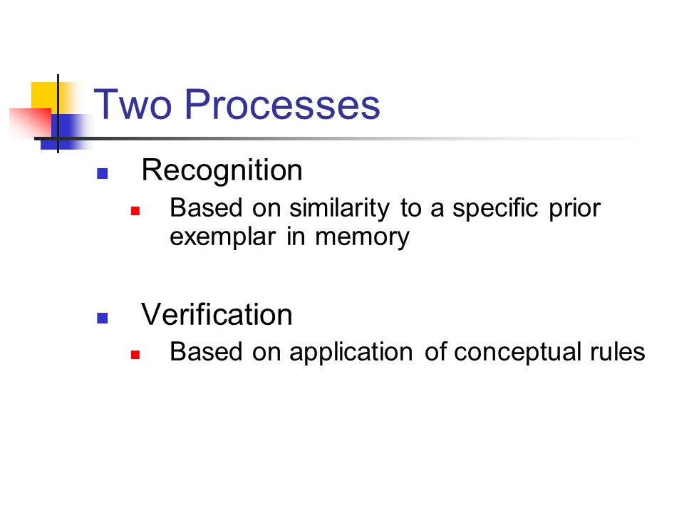 Two Processes Recognition Verification