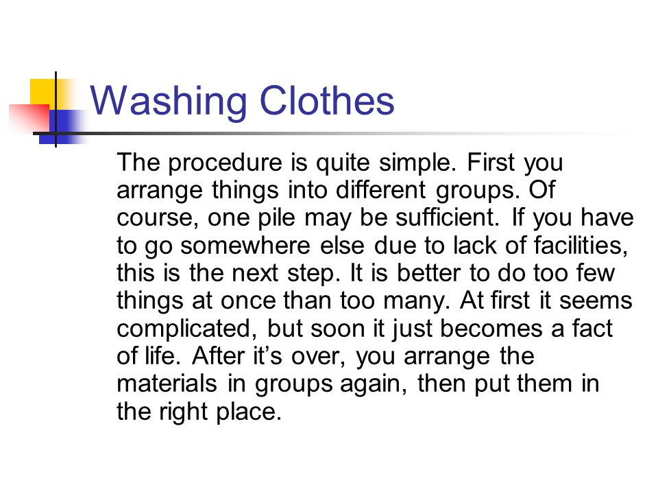 Washing Clothes