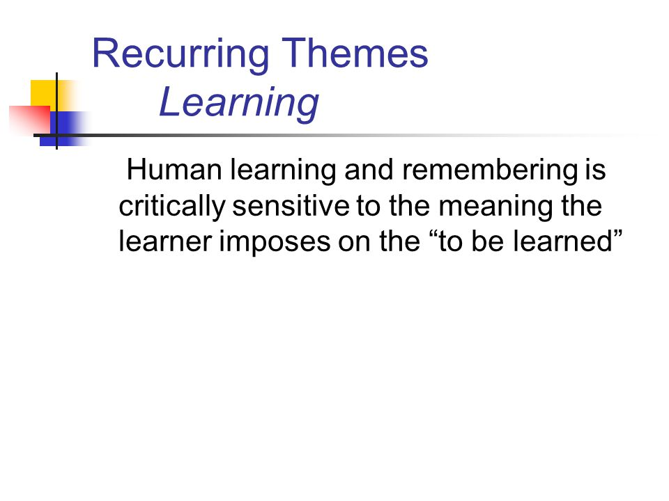 Recurring Themes Learning