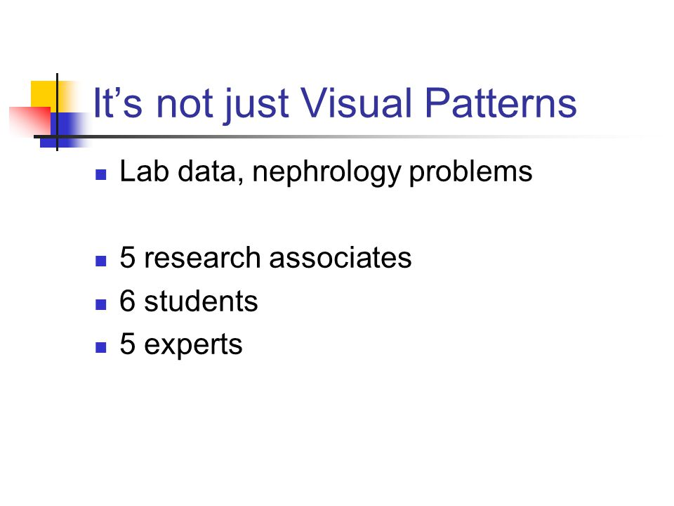 It's not just Visual Patterns