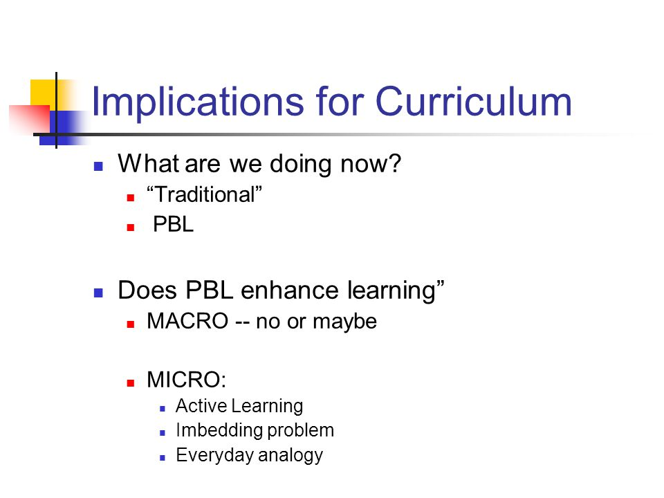 Implications for Curriculum