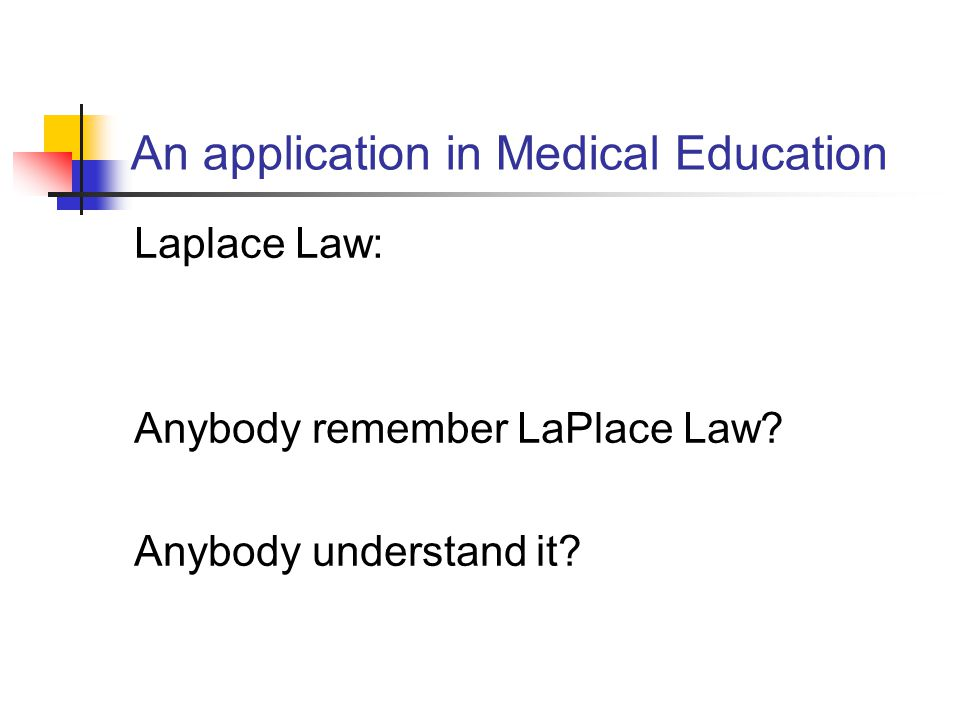 An application in Medical Education
