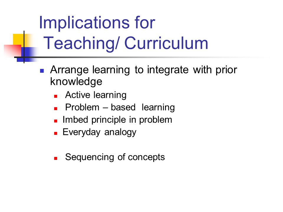 Implications for Teaching/ Curriculum