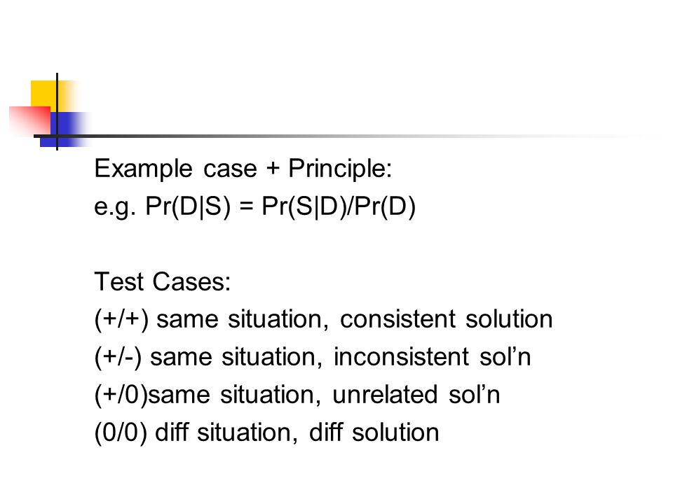 Example case + Principle: