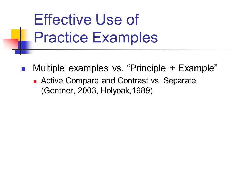 Effective Use of Practice Examples