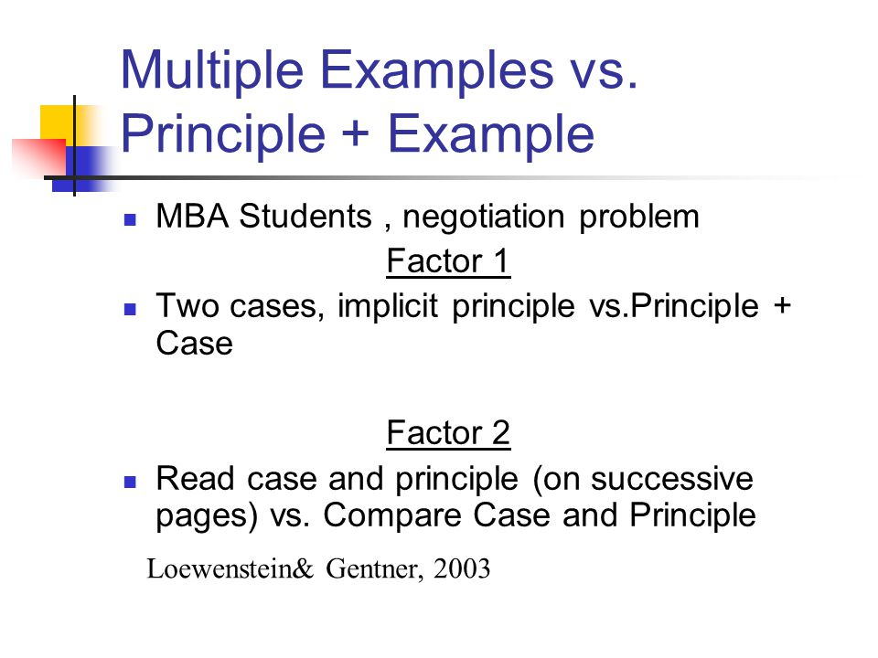 Multiple Examples vs. Principle + Example