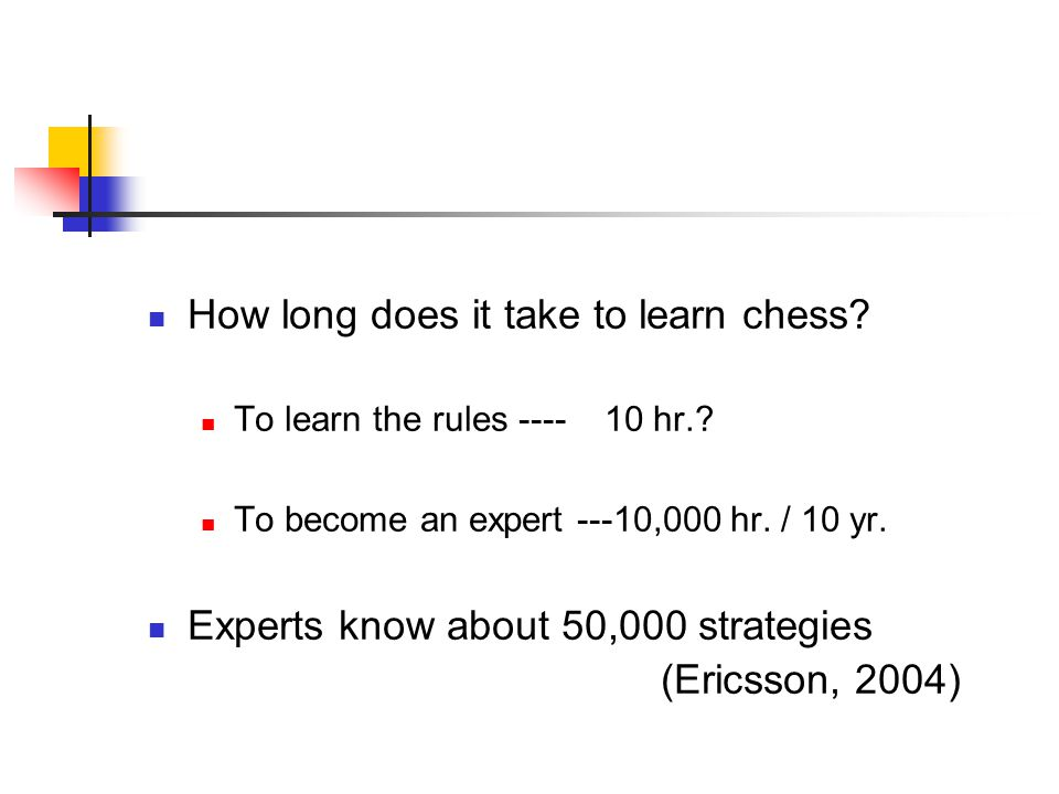 How long does it take to learn chess