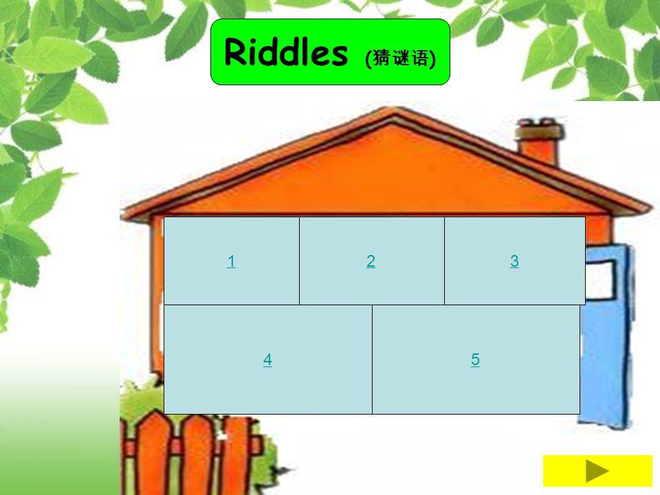 Riddles (猜谜语) 1 2 3 4 5