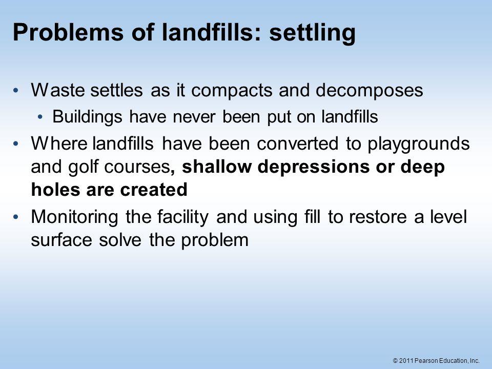 Problems of landfills: settling