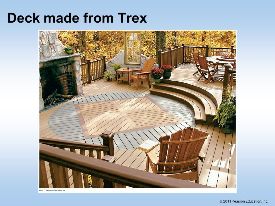 Deck made from Trex