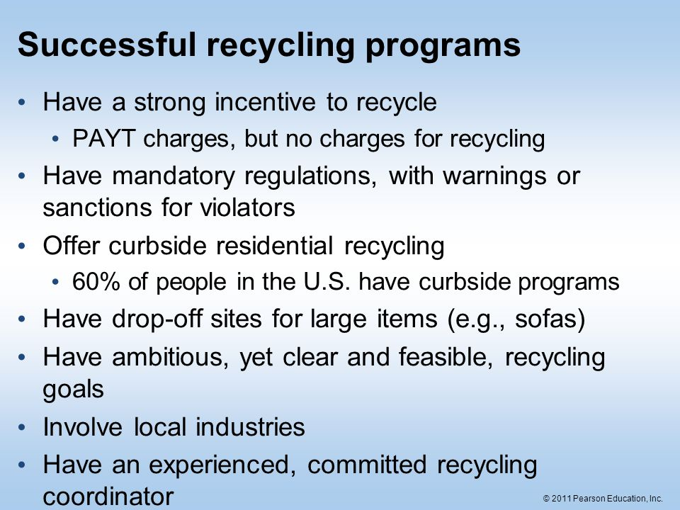 Successful recycling programs