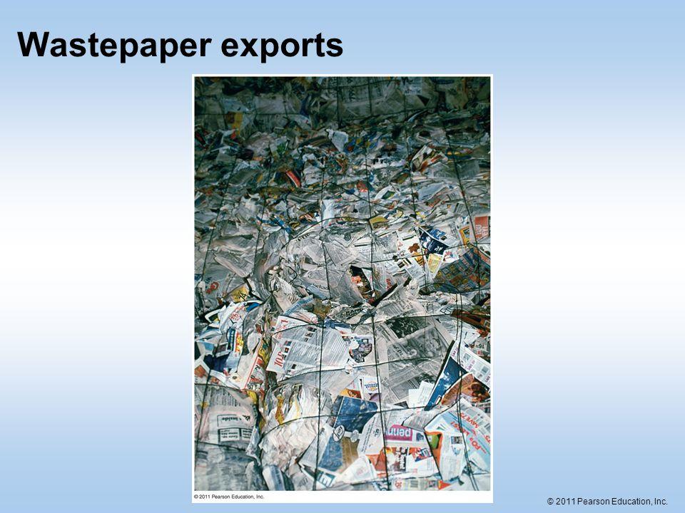 Wastepaper exports