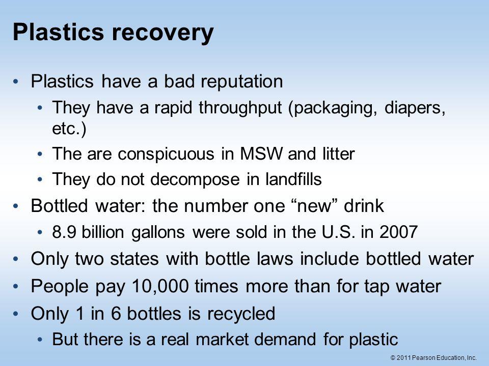 Plastics recovery Plastics have a bad reputation