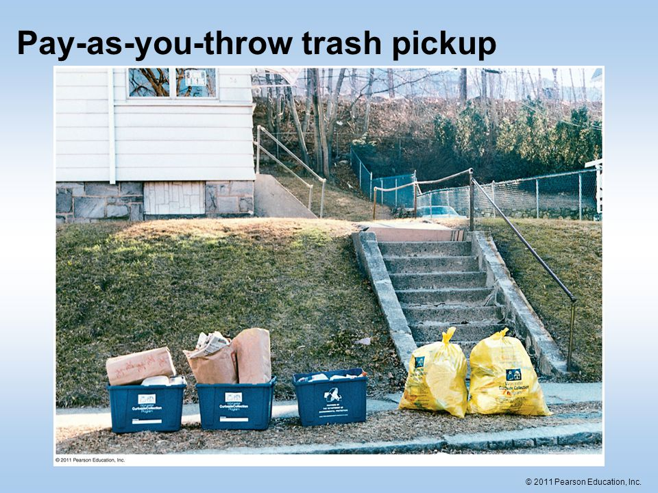 Pay-as-you-throw trash pickup