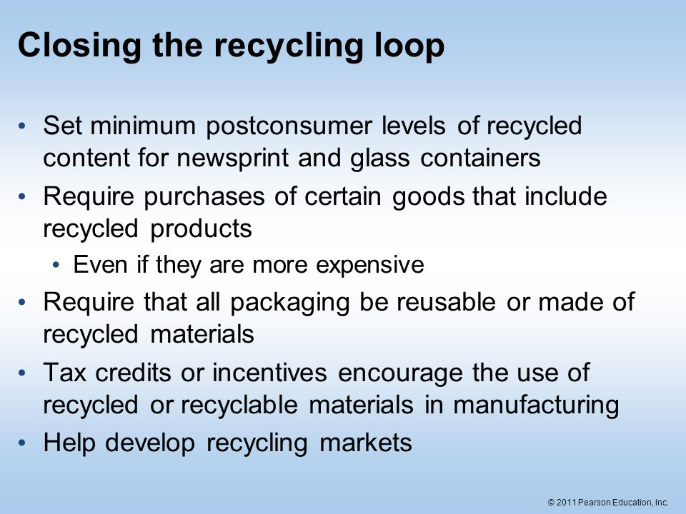 Closing the recycling loop