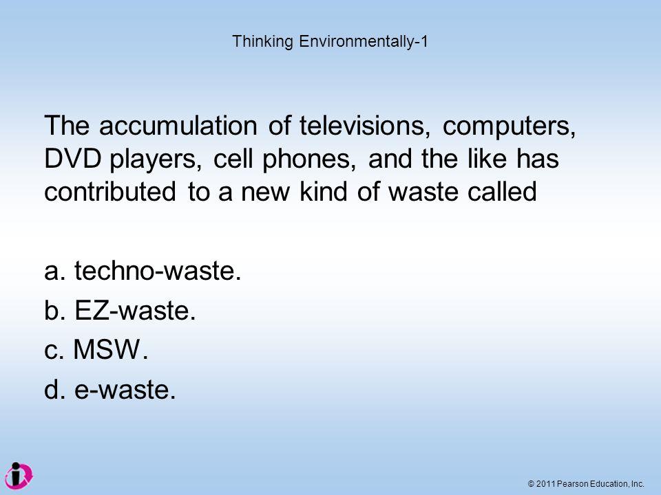 Thinking Environmentally-1