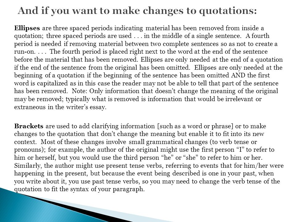 And if you want to make changes to quotations: