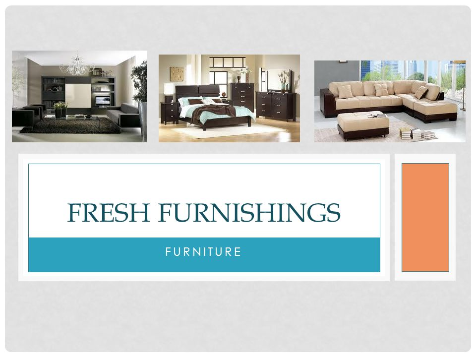 Fresh furnishings furniture