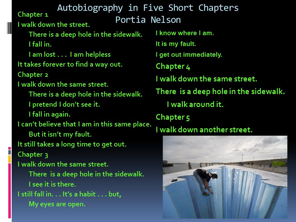 Autobiography in Five Short Chapters Portia Nelson
