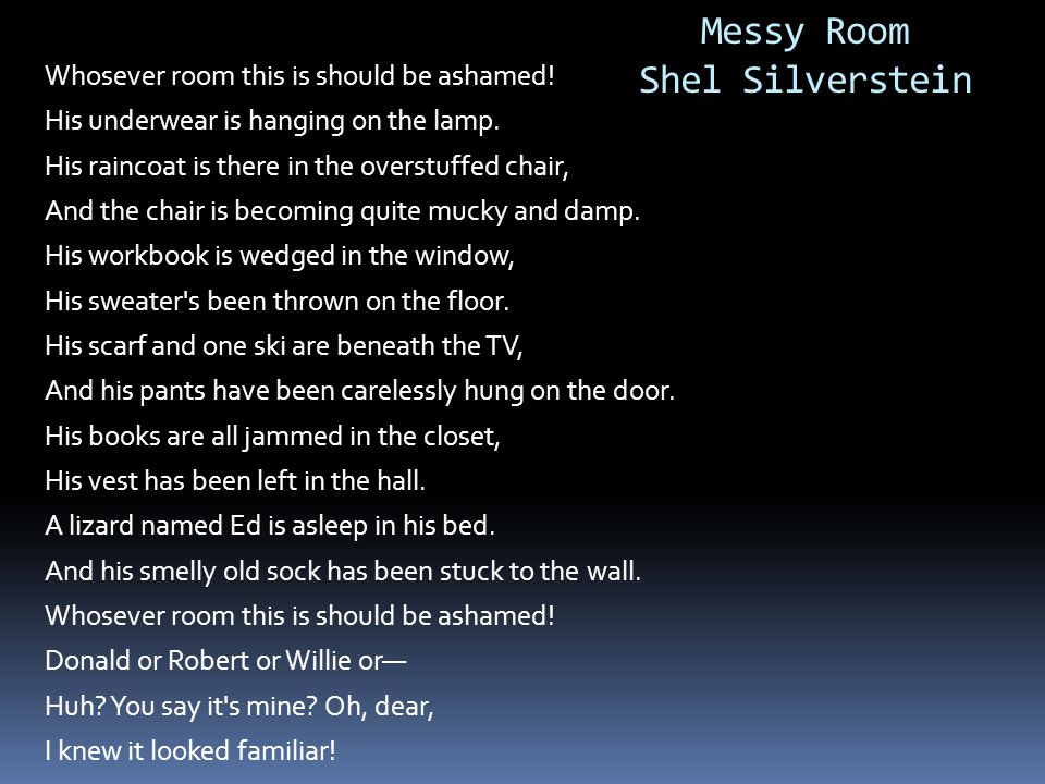 Messy Room Shel Silverstein