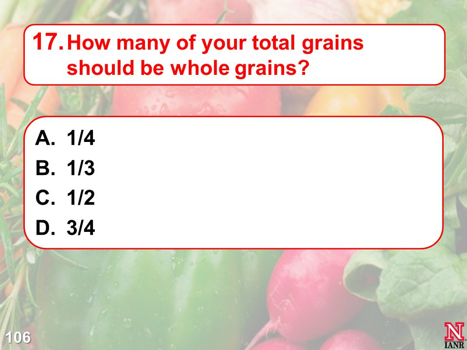How many of your total grains should be whole grains