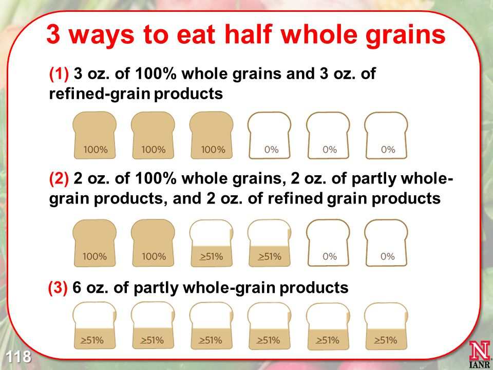 3 ways to eat half whole grains