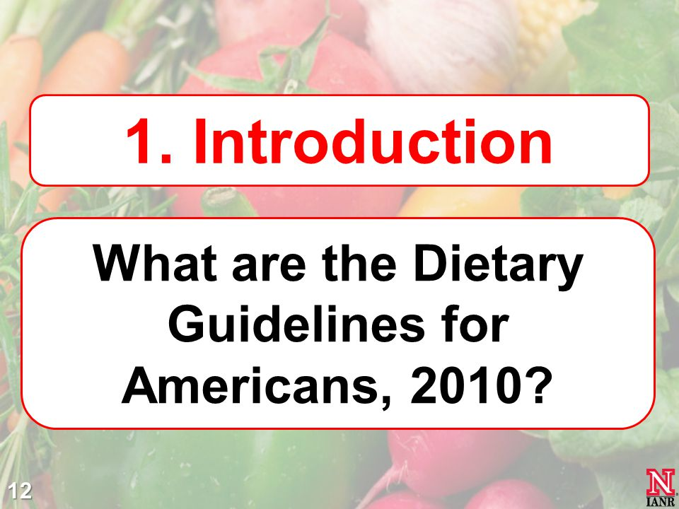 What are the Dietary Guidelines for Americans, 2010