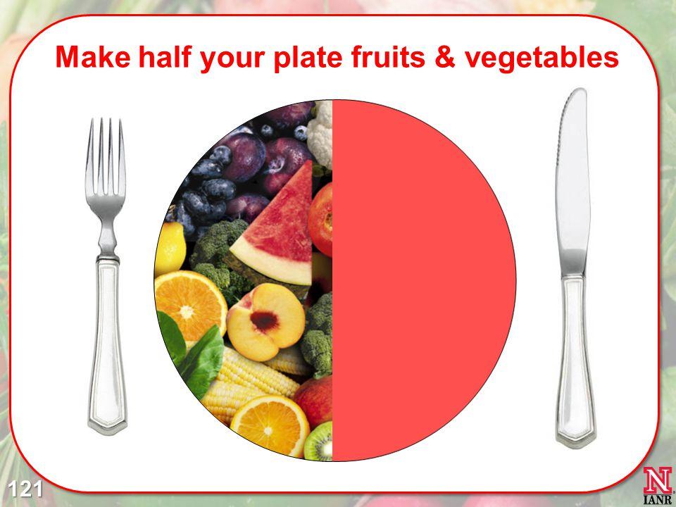 Make half your plate fruits & vegetables