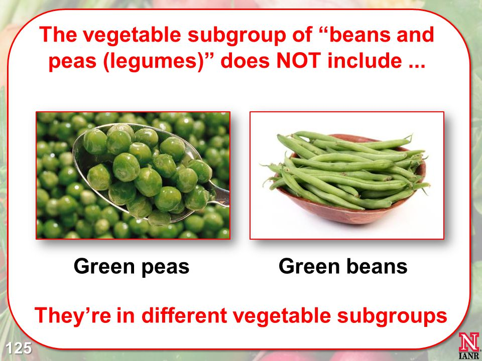 They're in different vegetable subgroups