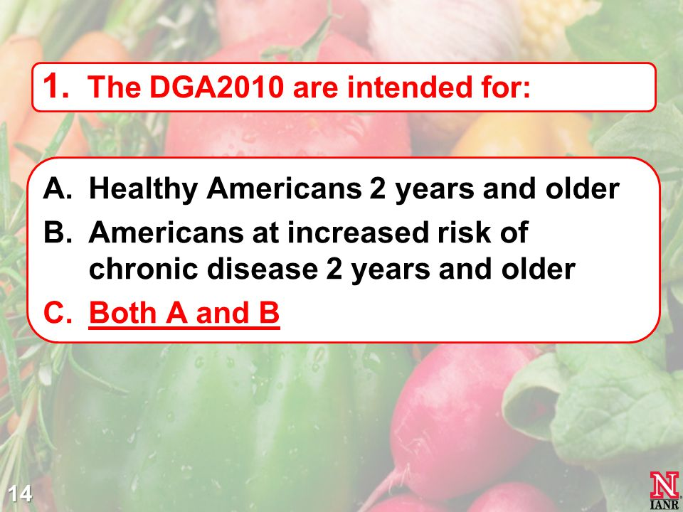 The DGA2010 are intended for: