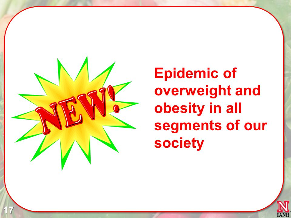 Epidemic of overweight and obesity in all segments of our society