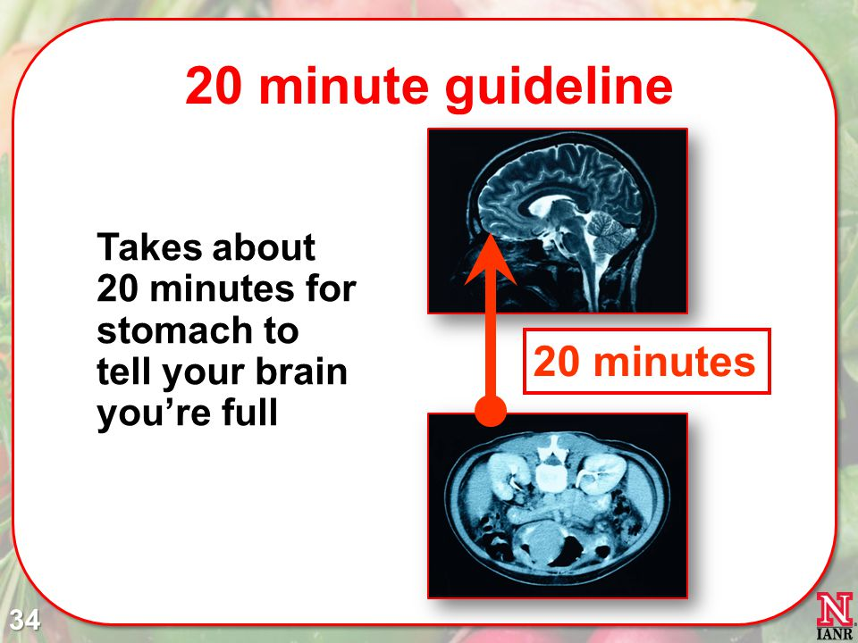 20 minute guideline 20 minutes