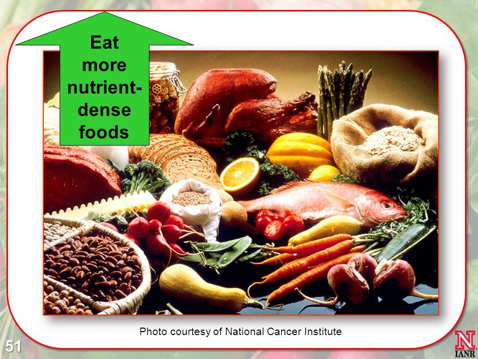 Eat more nutrient- dense foods