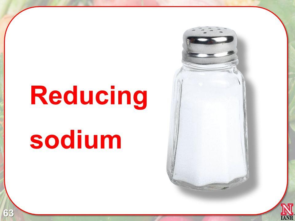 Reducing sodium