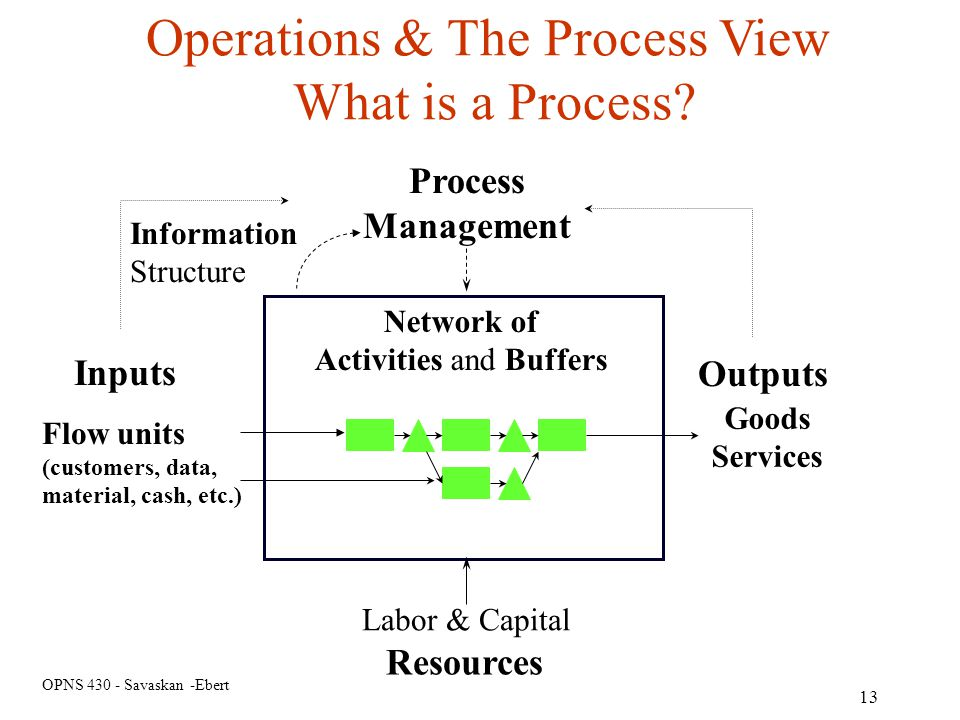 Operations & The Process View