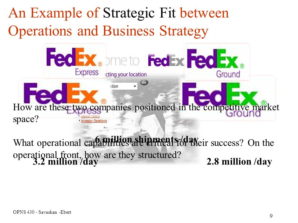An Example of Strategic Fit between Operations and Business Strategy