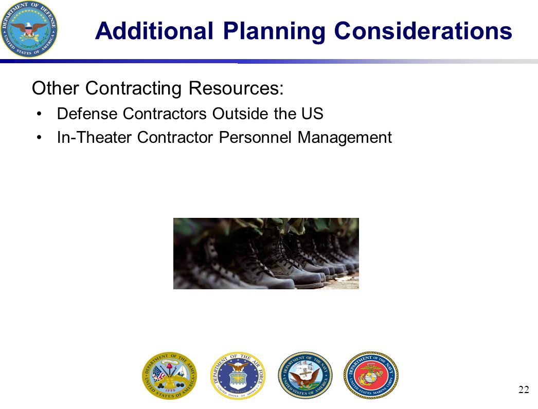 Additional Planning Considerations
