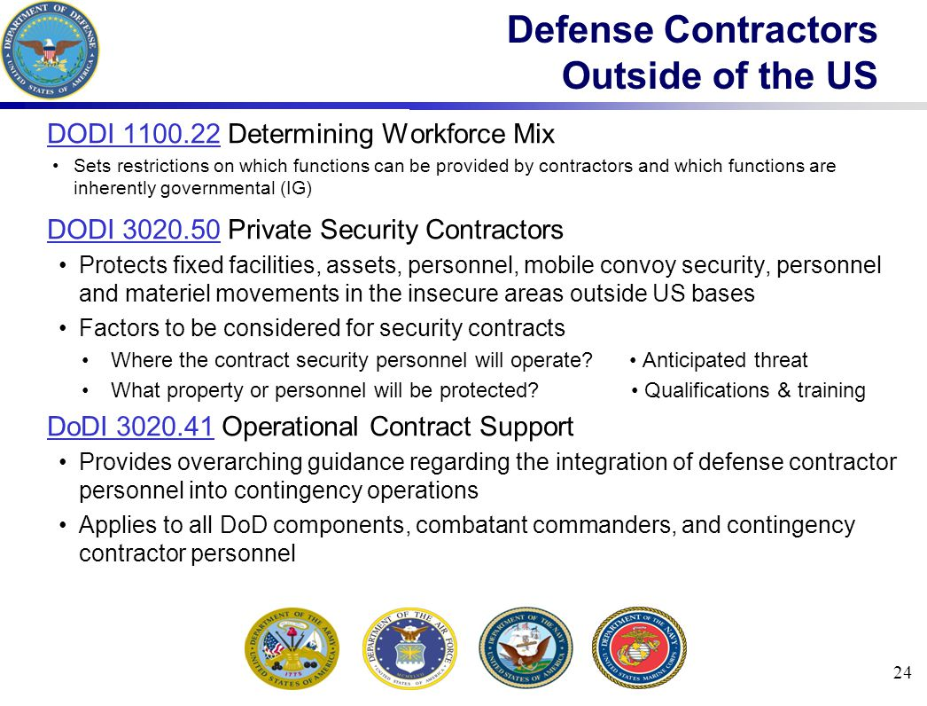Defense Contractors Outside of the US