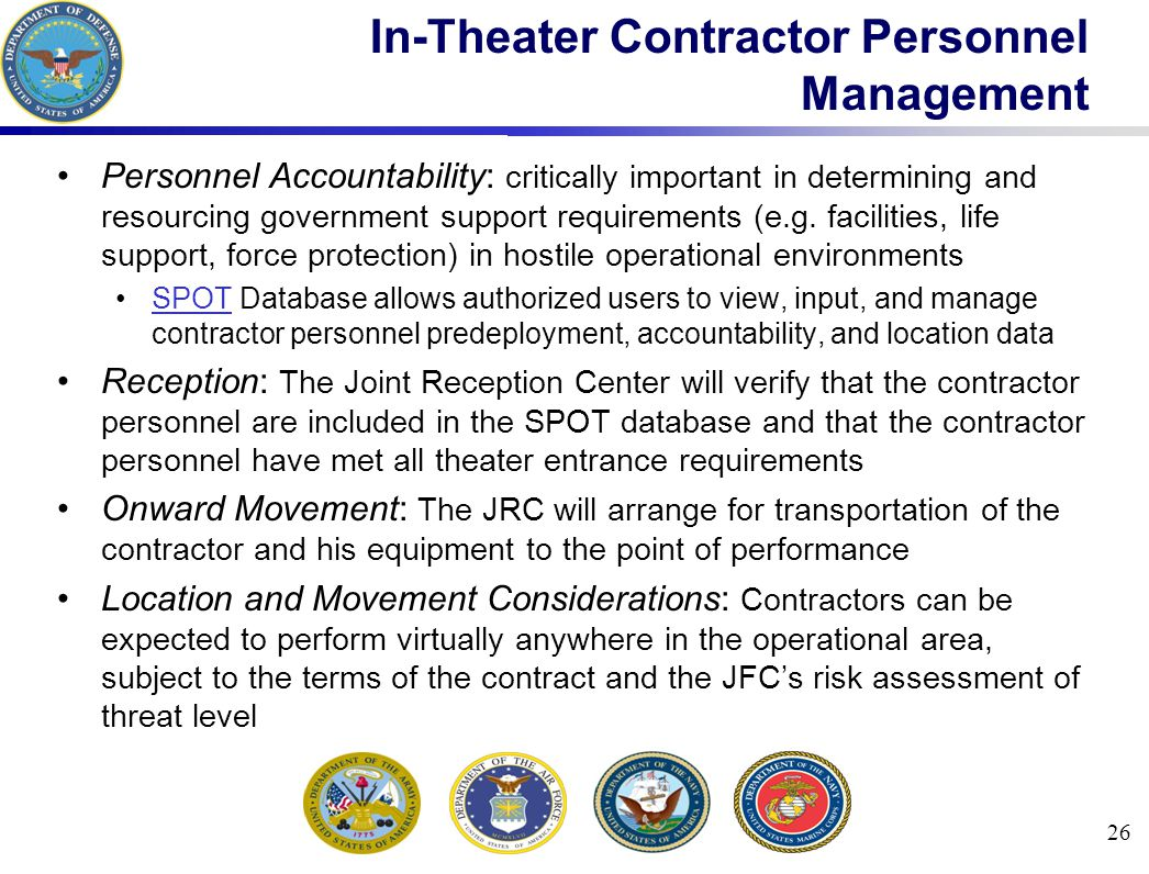 In-Theater Contractor Personnel Management