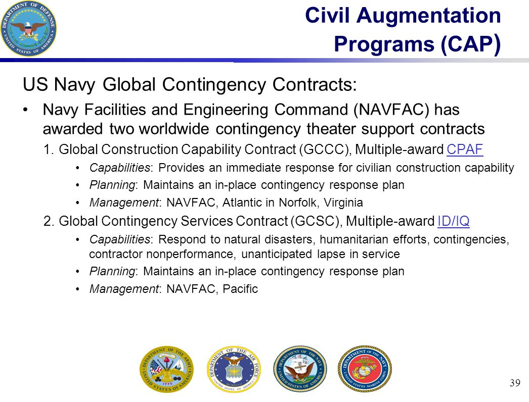 Civil Augmentation Programs (CAP)