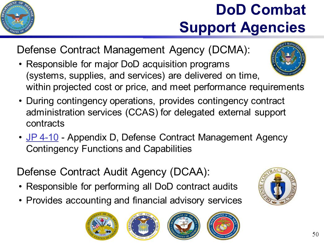 DoD Combat Support Agencies