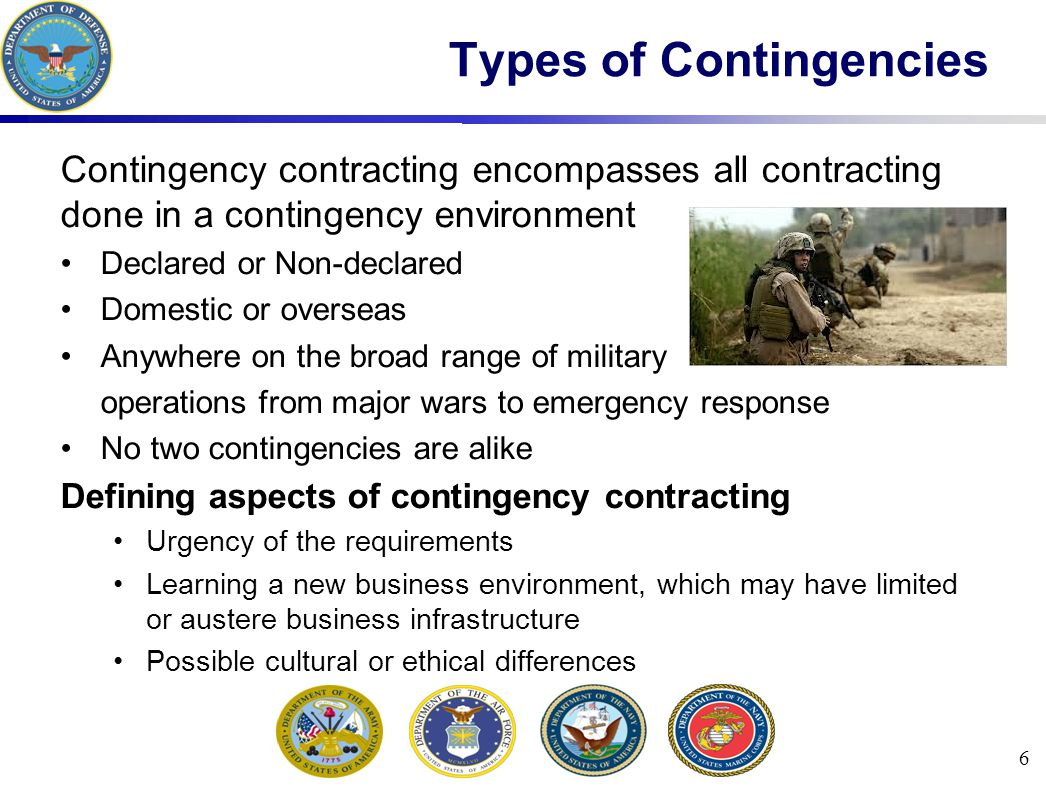 Types of Contingencies